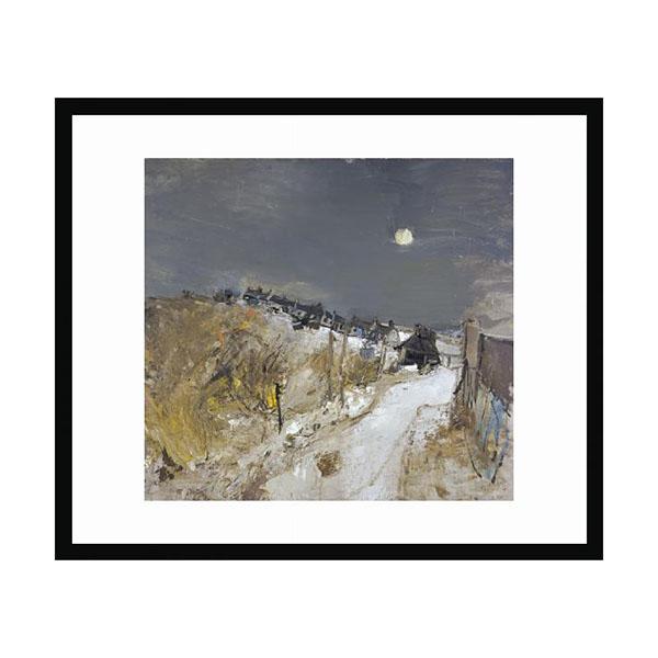 Catterline in Winter by Joan Eardley (50 x 40 cm) framed print