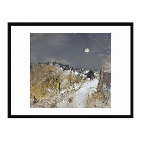 Catterline in winter by Joan Eardley (50 x 70 cm) framed print