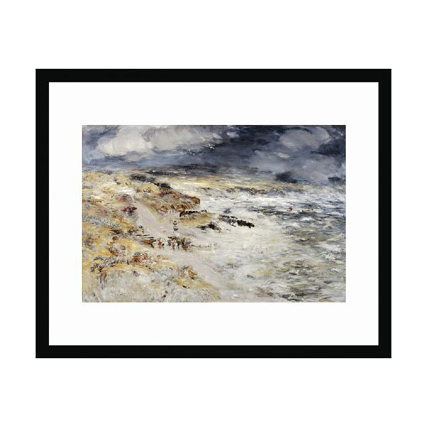 The Storm by William McTaggart (30 x 40 cm) framed print