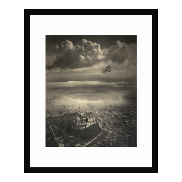 Aerial view of Edinburgh by Alfred G Buckham (100 x 70cm) framed print