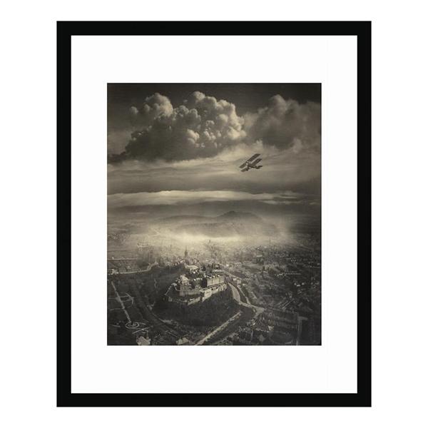 Aerial view of Edinburgh (30 x 40 cm) framed print