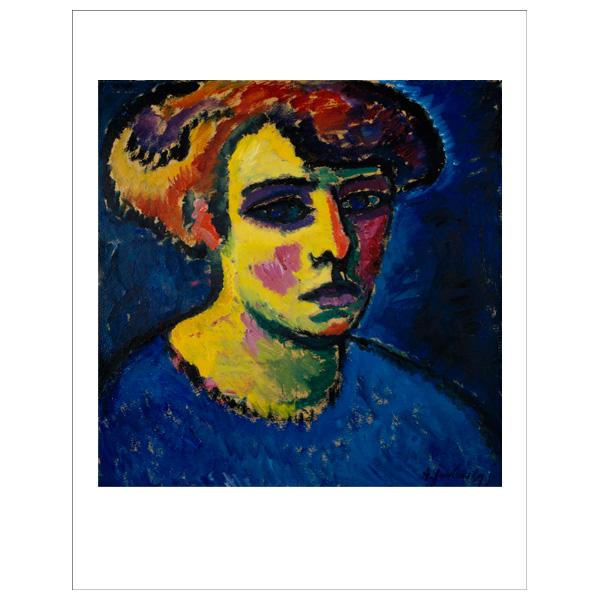 Frauenkopf [Head of a Woman] Alexej von Jawlensky Art Print