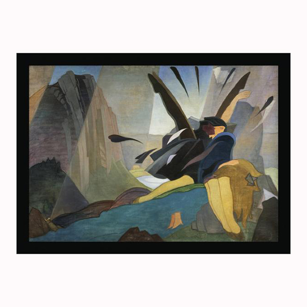 Cartwheels by Eric Robertson ready to hang canvas print (40cm width)