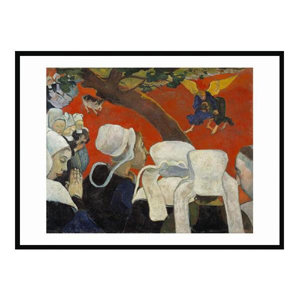 Vision of the Sermon by Paul Gauguin (70 x 100 cm) framed print