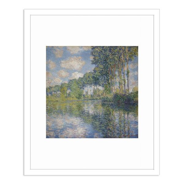 Poplars on the Epte by Claude Monet (40 x 30 cm) framed art print