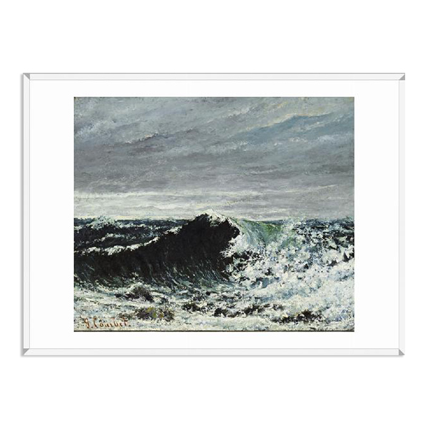 The Wave by Gustave Courbet (70 x 100 cm) framed print