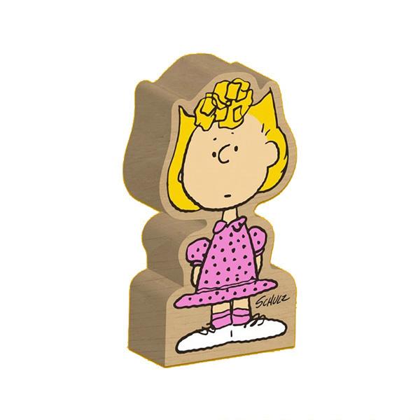 Sally Brown Peanuts wooden block figure