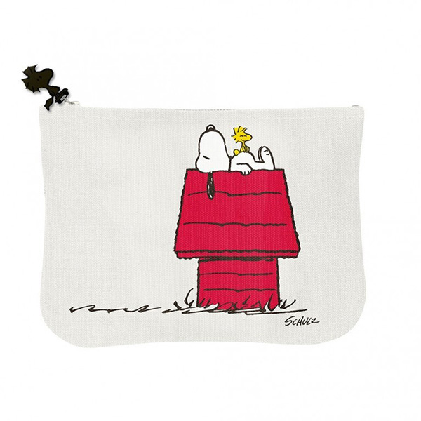 Snoopy gang & house cotton pouch