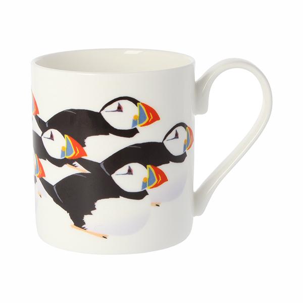 Puffins by Chris McColl mug