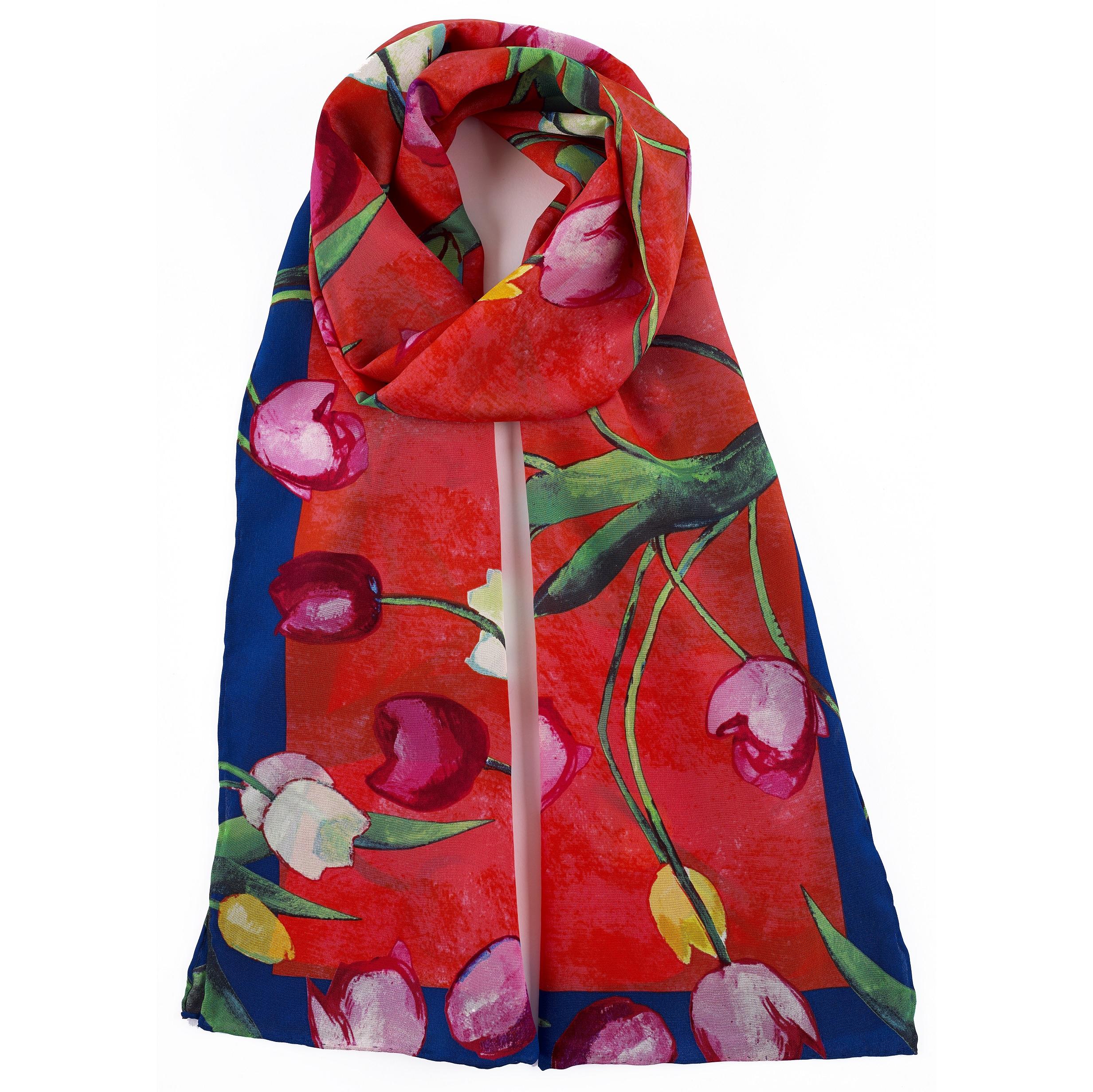 Tulips Samuel John Peploe Silk Scarf