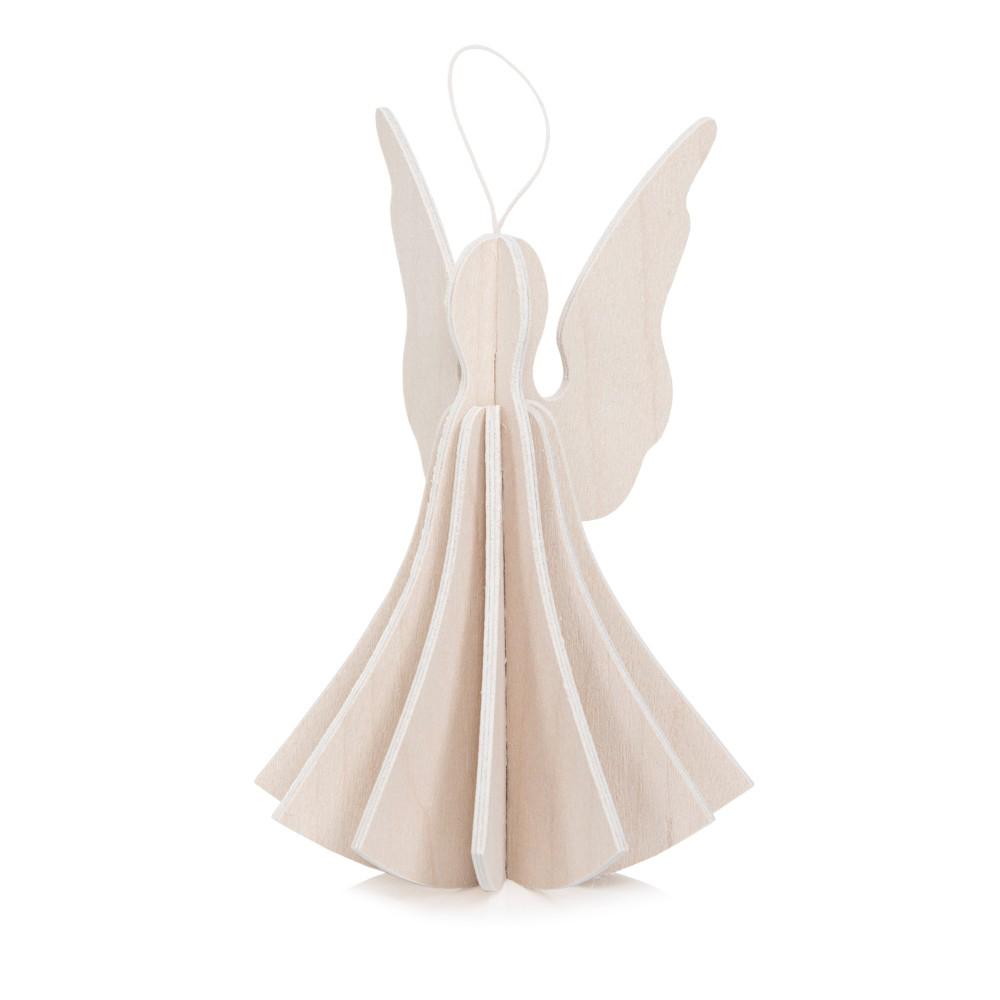 White angel wooden flat pack Christmas decoration kit (9.5 cm)