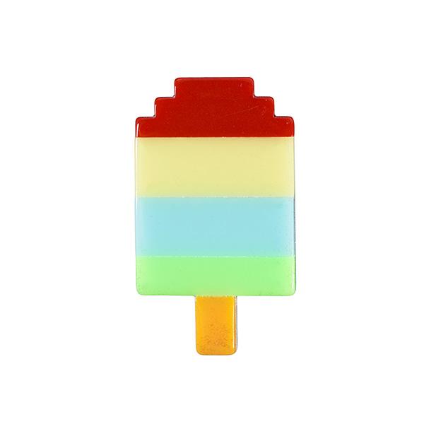 Ice lolly pixel resin brooch