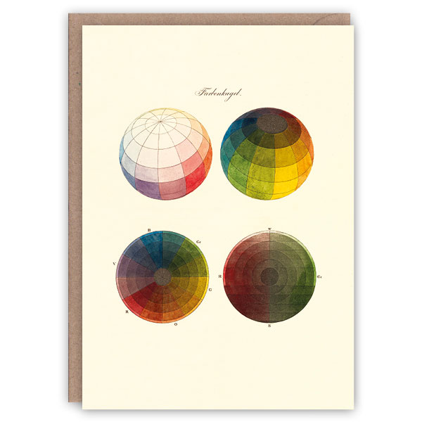 Colour spheres pattern book greeting card