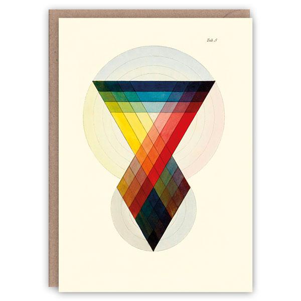 Prismatics pattern book greeting card