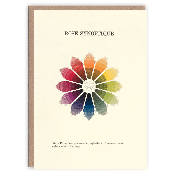 Rose synoptique pattern book greeting card