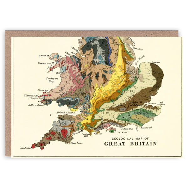 Geology of Britain pattern book greeting card