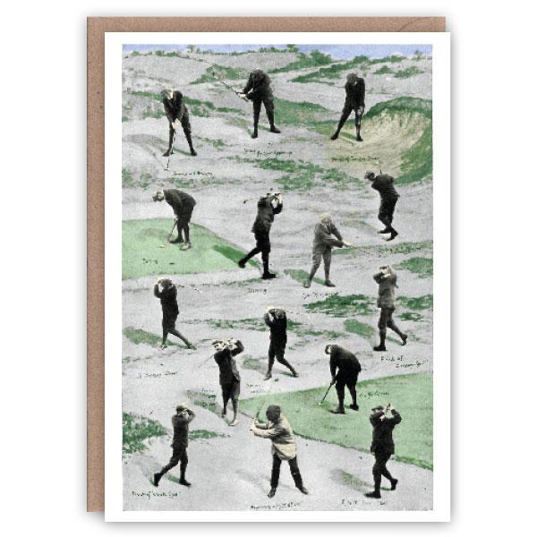 Golf pattern book greeting card