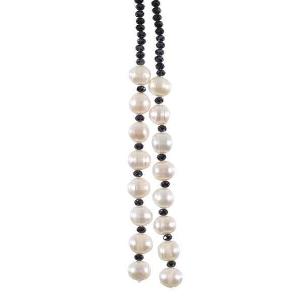 Black Swarovski crystal necklace