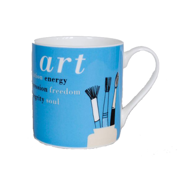 Gallery turquoise art tools mug