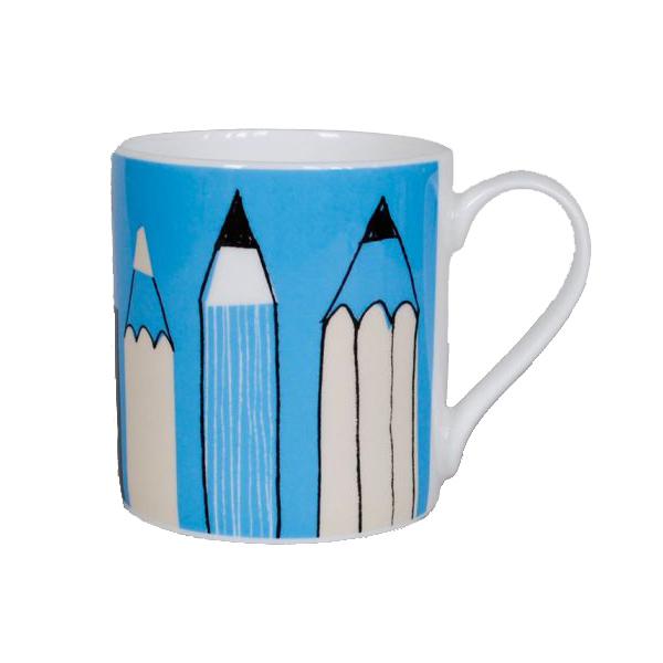 Gallery turquoise art pencils mug