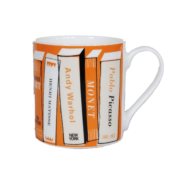 Gallery orange books mug