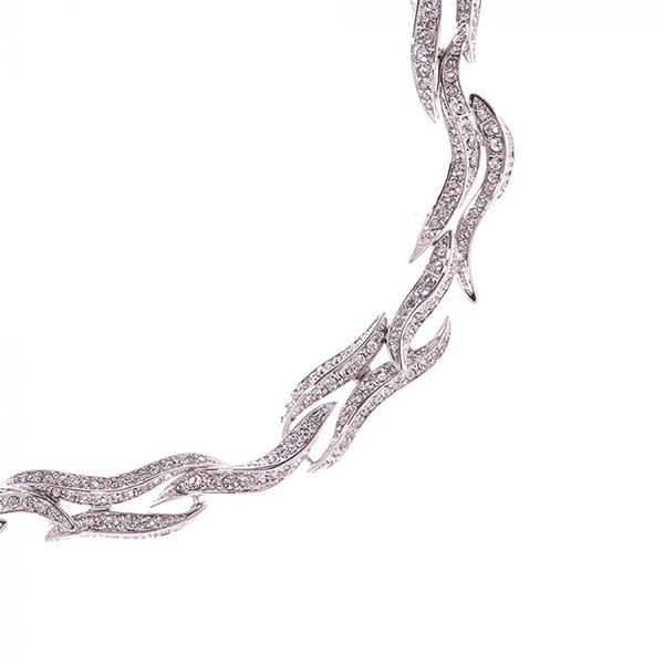 Swarovski Crystal flaming heart necklace