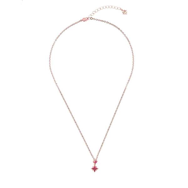 Swarovski pink crystal rose gold star pendant