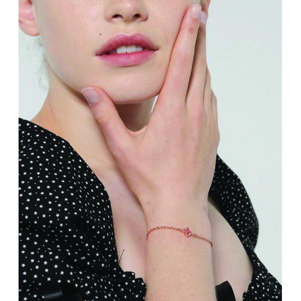 Swarovski pink crystal rose gold star bracelet