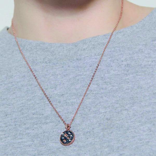 Swarovski crystal navy star pendant