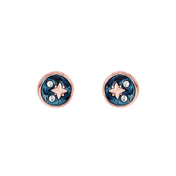 Swarovski crystal navy star stud earrings