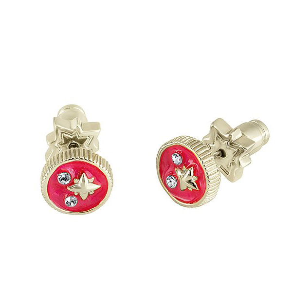 Swarovski crystal pink star stud earrings