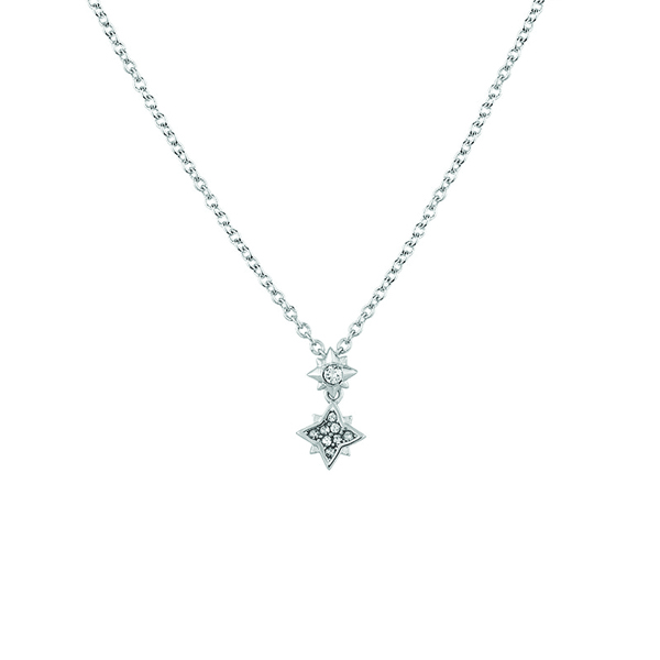 Swarovski clear crystal star pendant necklace