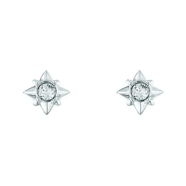 Stellar star clear crystal stud earrings