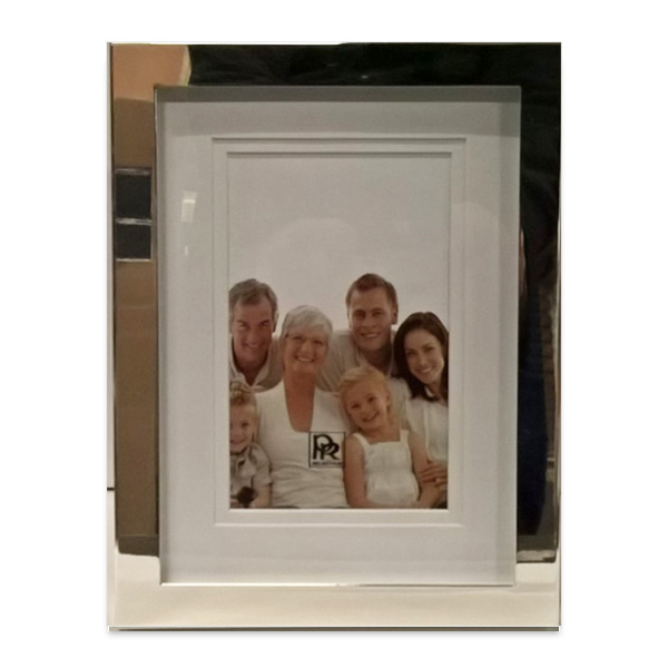 Decorative silver-plated photo frame (16 x 21 cm)
