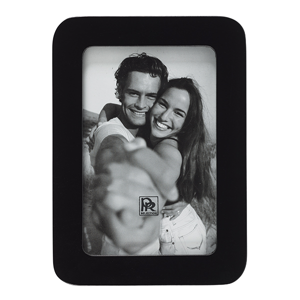 Black rounded edge small picture frame (18.5 x 13.5 cm)