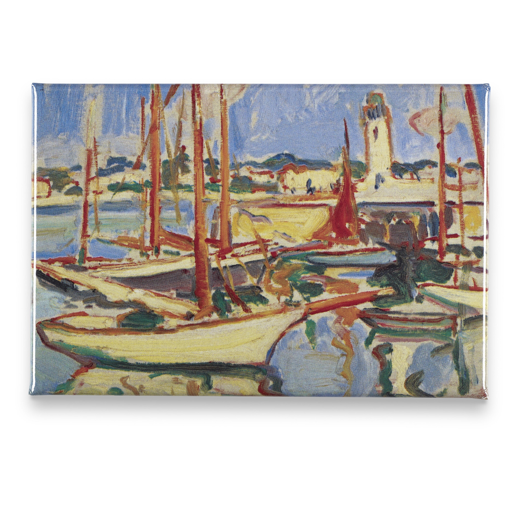 Boats at Royan Samuel John Peploe Magnet