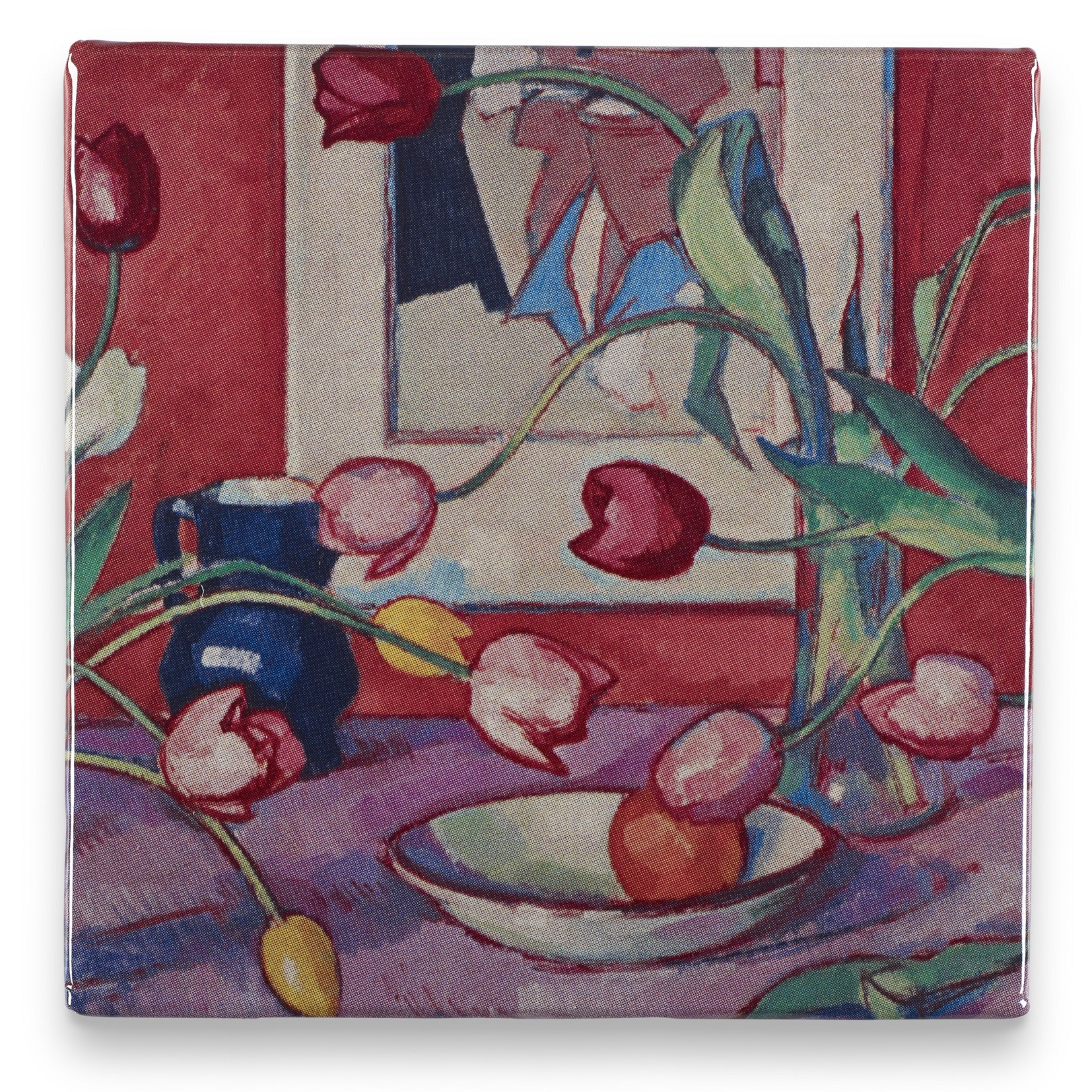 Tulips The Blue Jug Samuel John Peploe Magnet