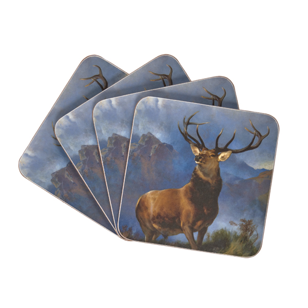 The Monarch of the Glen Edwin Landseer Coaster Set