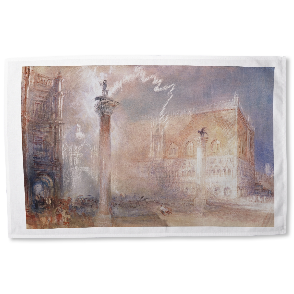 The Piazzetta, Venice by Joseph Mallord William Turner tea towel