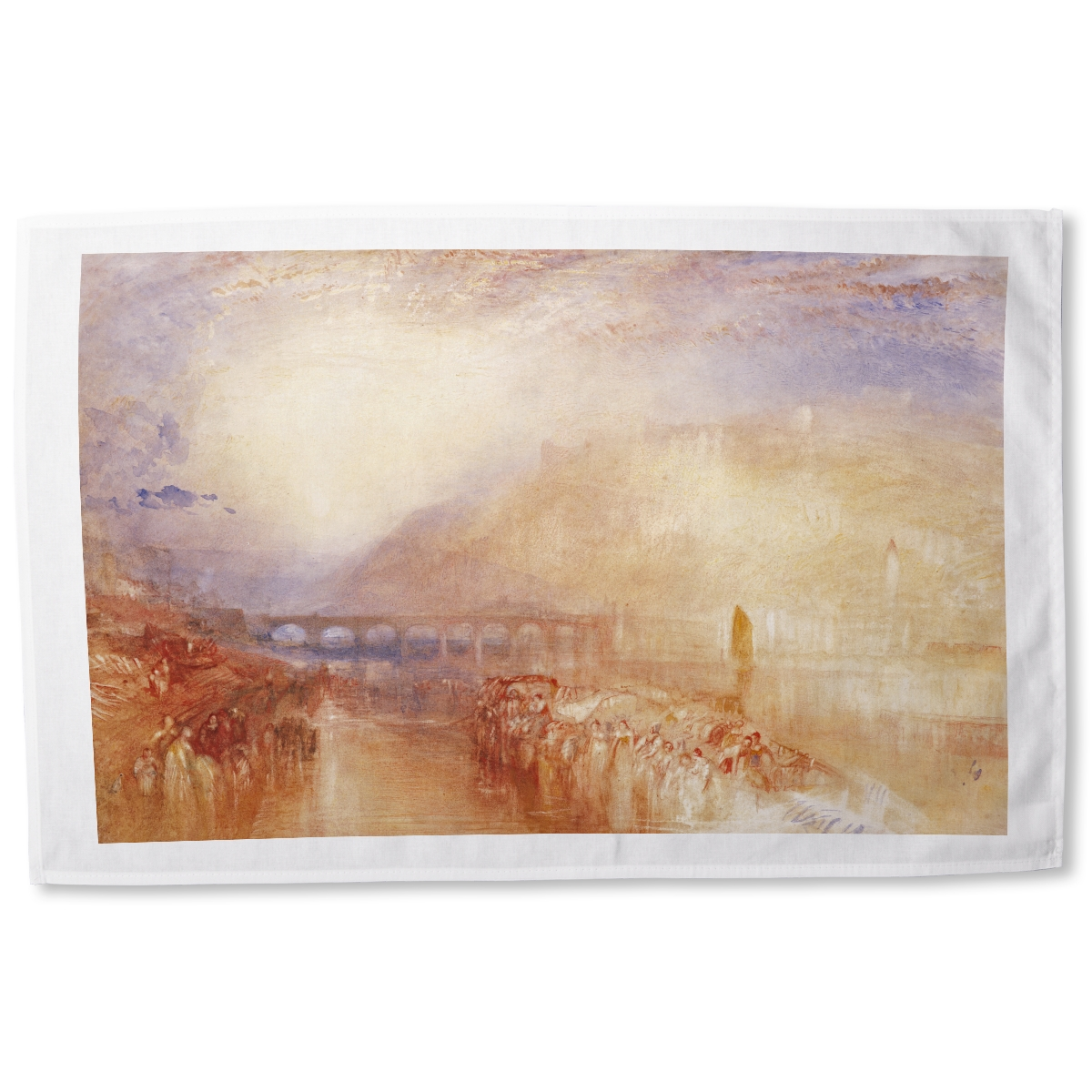 Heidelberg by Joseph Mallord William Turner tea towel