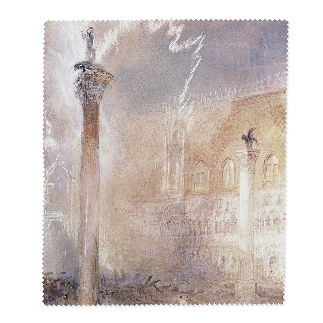 The Piazzetta, Venice by Joseph Mallord William Turner lens cloth