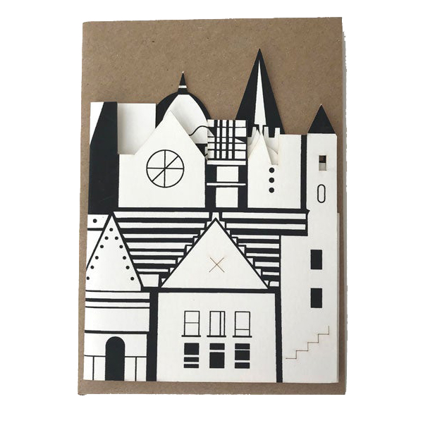 Imagined City fold out greeting card