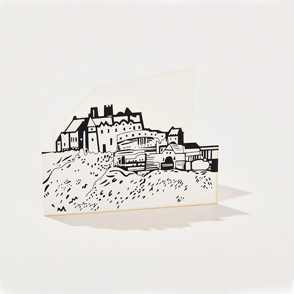 Edinburgh Castle cut out greeting card