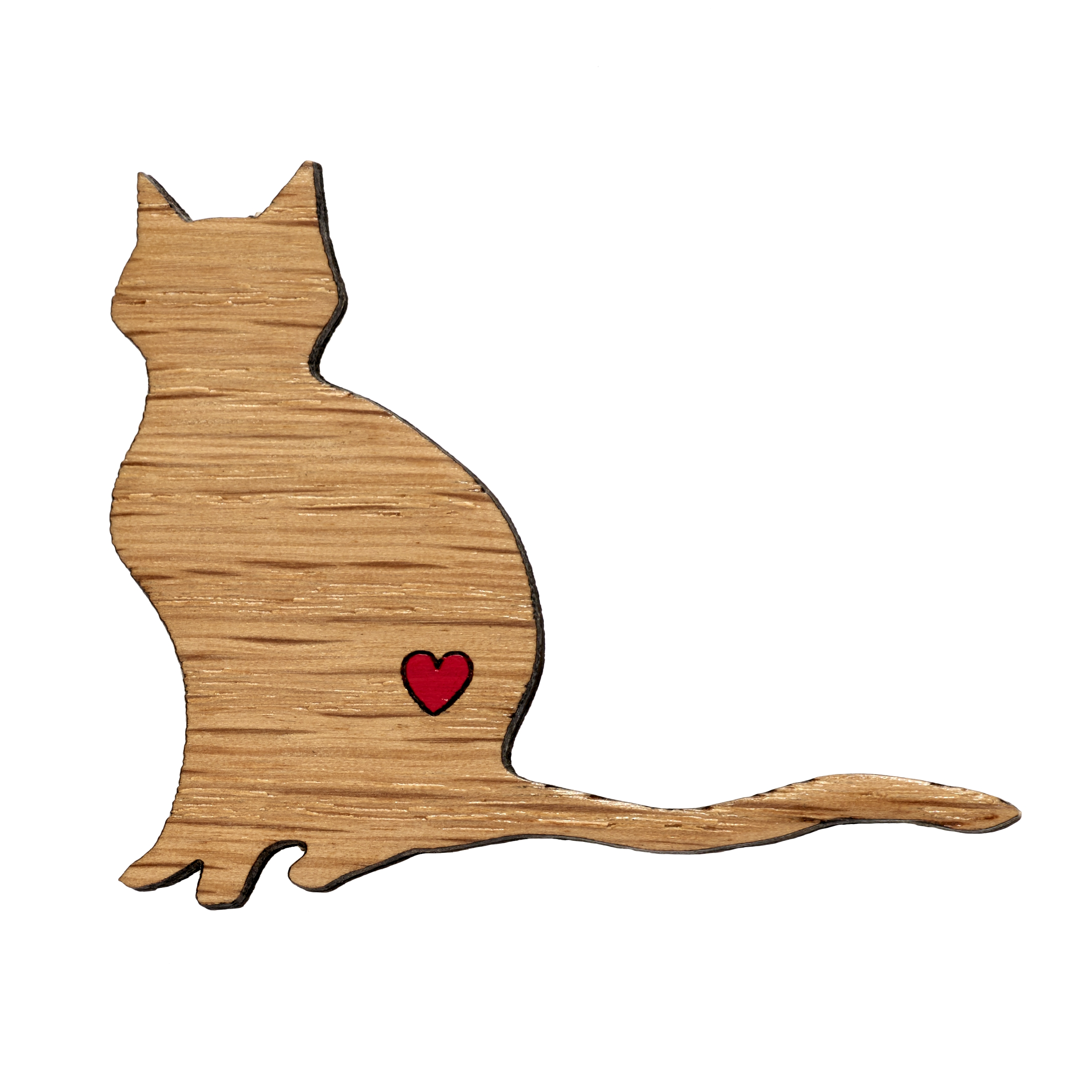 Twiggd Cat Shape Wooden Badge