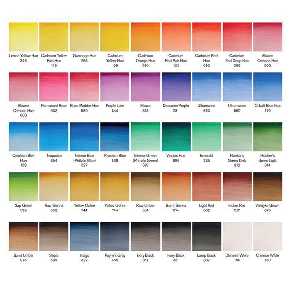 Cotman watercolours half pan studio set (40 colours)