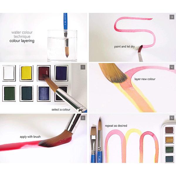 Cotman watercolours painting plus set (24 colours)
