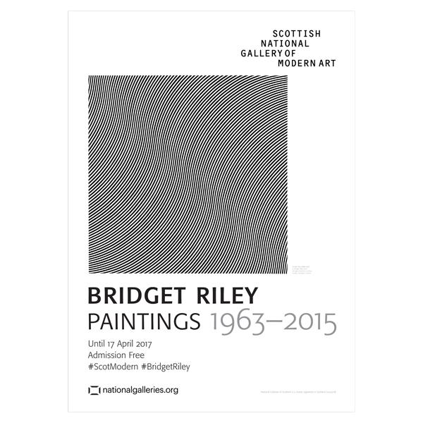 Bridget Riley Exhibition Poster