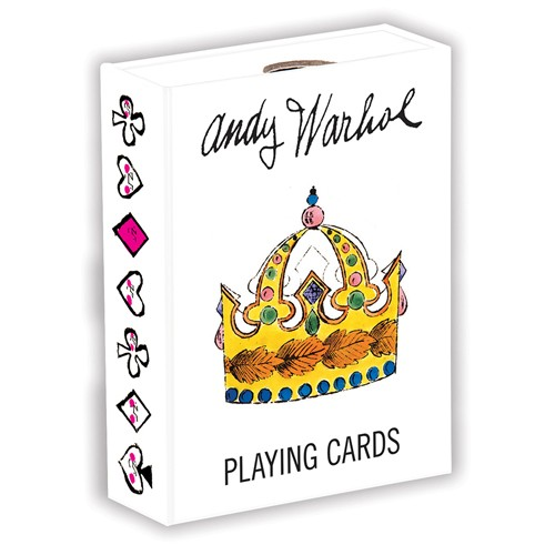 Andy Warhol crown playing cards