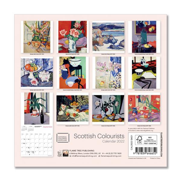 Scottish Colourists 2022 mini wall calendar