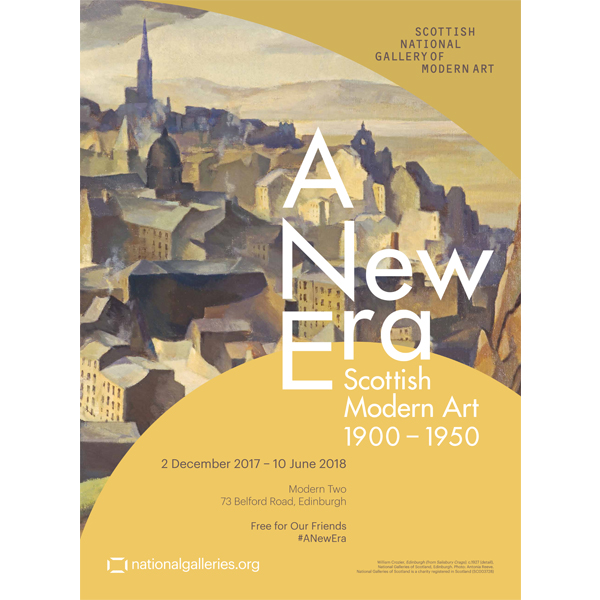 A New Era: Scottish Modern Art 1900-1950 exhibition poster